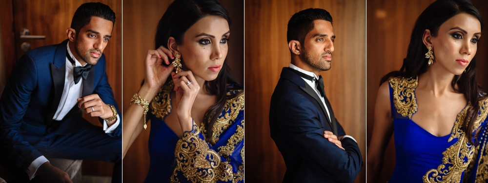 bride and groom portraits London Indian Wedding Photographer